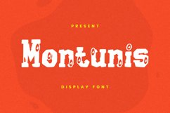 Montunis Font Product Image 1