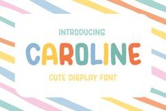 Caroline - Cute Display Font Product Image 1