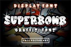 superbomb graffiti display font Product Image 1