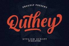 Quthey Casual Script Product Image 1