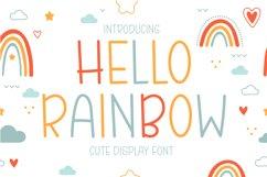 Hello Rainbow - Cute Display Font Product Image 1