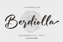 Berdiolla - Handwritten Font Product Image 1
