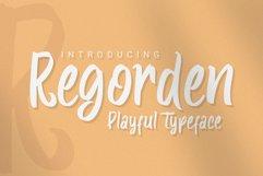 Regorden - Playful Typeface Product Image 1