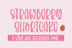 Strawberry Shortcake-A silly and relaxing font Product Image 1