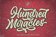 Hundred Miracles - Urban Retro Font Product Image 1
