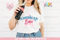 4th July American Babe Patriotic Svg Product Image 3