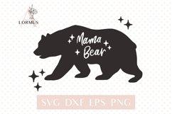 Mama bear svg, Mommy bear svg, Bear family svg, Mom life svg Product Image 1