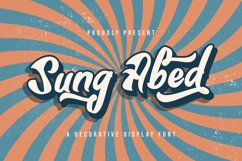 Sung Abed - Decorative Display Font Product Image 1