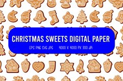 Christmas sweets Digital Paper   Christmas seamless pattern Product Image 1