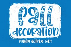 Fall Decoration - A quirky family font Product Image 1