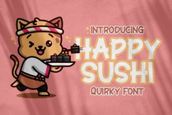 Happy Sushi - Quirky Font Product Image 1