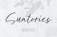 Suntories Font Product Image 1