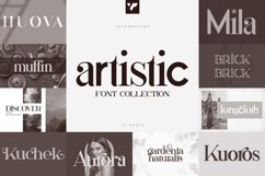 Artistic Font Collection - 15 fonts Product Image 1