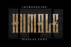 Humble Font Product Image 1