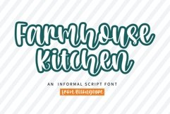 Farmhouse Kitchen -A quirky handwritten font Product Image 1