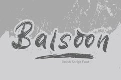Balsoon - Brush Font Product Image 1