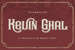 Kevin Ghal - Victorian Decorative Font Product Image 1