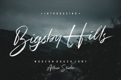 Web Font - Bigsby Hills Product Image 1