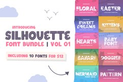 The Silhouette Font Bundle - Volume 01 Product Image 1