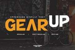 GearUp Sporty Font Product Image 1