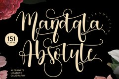 Mandala Absolute   handwritten font Product Image 1