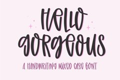 Hello Gorgeous-A handwritten mixed case font Product Image 1