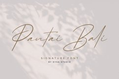 Pantai Bali - Signature Font Product Image 1