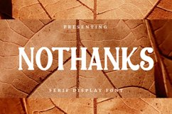 Nothanks Font Product Image 1