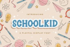 Schoolkid - Playful Display Font Product Image 1