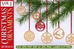 Christmas Ornaments Vol.1 - 120 Laser Cut Files Bundle Product Image 1