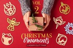 Christmas Ornaments Vol.2 - 120 Laser Cut Files Bundle Product Image 1