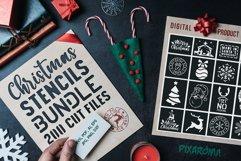 200 Christmas Stencils SVG Cut Files Bundle Product Image 1