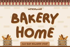 Bakery Home - Funny Font Product Image 1