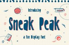 Sneak Peak - A Fun Display Font Product Image 1