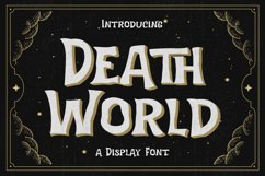Death World - Display Font Product Image 1