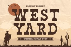 West Yard - Western Display Font Product Image 1