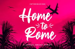 Home to Rome - Casual Brush Script Product Image 1