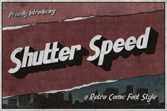 Shutter Speed - A Retro Comic Font Product Image 1
