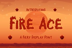 Fire Ace - A Fiery Display Font Product Image 1