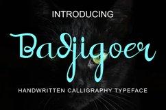 Badjigoer Handwritten Calligraphy Typeface Product Image 1