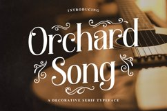 Orchard Song - Decorative Serif Font Product Image 1