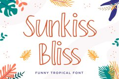 Sunkiss Bliss - Funny Tropical Font Product Image 1