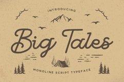 Big Tales - Monoline Script Product Image 1