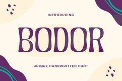Bodor - Unique Handwritten Font Product Image 1