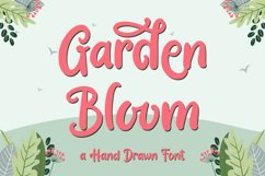 Garden Bloom - Hand Drawn Font Product Image 1
