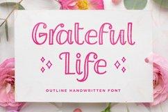 Grateful Life - Outline Handwritten Font Product Image 1