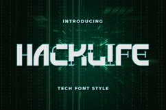 Hacklife - Tech Font Style Product Image 1