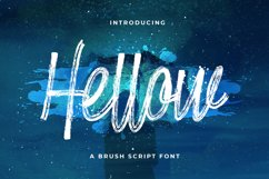 Hellow - Brush Script Typeface Product Image 1
