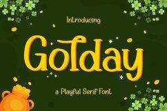 Golday - Playful Serif Font Product Image 1