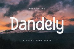 Dandely - Retro Sans Serif Product Image 1